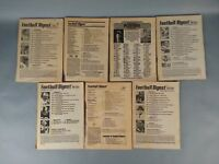 7pc 1980's Football Digest Lot No Covers Vintage asis