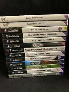 Nintendo Gamecube & Wii - Spielepaket 13 Spiele - Gebraucht teilweise Neuwerti