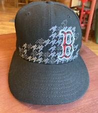 Boston Redsox New Era Wool Hat, Size 7 1/8, Baseball Cap, Black , 59fifty