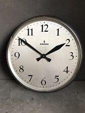 Siemens Halske Industrie Wanduhr Bauhaus Fabrik Uhr elektrische Loft Design Uhr