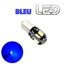1 Ampoule LED Bleu Blue BA9s T4W Plafonnier lecture Resistance anti erreur
