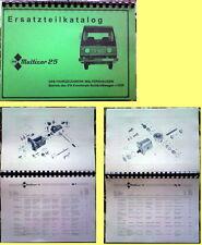 Ersatzteilkatalog Multicar 25 M25 IFA W50 L60 Robur W 50 L60