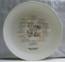 1975 Calendar Plate Vintage Four Seasons Rodgers Furniture Mansfield Missouri
