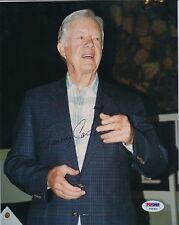 PRESIDENT JIMMY CARTER FULL SIGNATURE SIGNED AUTOGRAPHED 8X10 PHOTO PSA/DNA COA