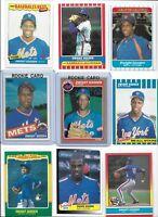 Dwight Gooden Mets Lot of (30) Different w/ 1985 Fleer #82 & Topps #620 Rookies