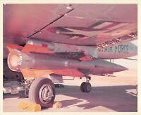 Original Vintage Photograph Missile Mounted On USAF Plane  #90