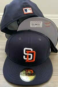 New Era Cap 59FIFTY San Diego Padres Navy RETRO WOOL COOP Hat Fitted 5950 1991