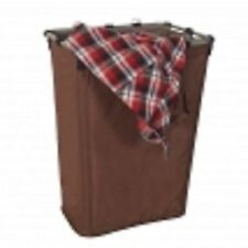 LARGE BROWN COLLAPSIBLE FOLDING LAUNDRY HAMPER LAUNDRY BASKET WITH DRAWSTRING