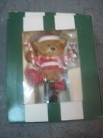 GIFTCO BEARS-A-GOING CHRISTMAS ORNAMENT BEAR ON UNICYCLE WITH CANDY CANES