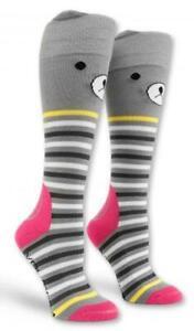Volcom GRRR Tech Snowboard Snow Ski Winter Sock Women XS-S 4.5-7 Grey Stripe NEW