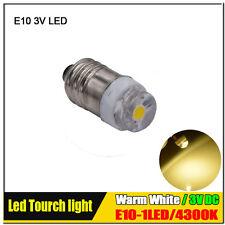 4 X CREE 0.5W Lamp LED Bulb 3V Warm White E10 1447 Screw For Torch Bike Bicycle