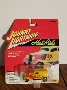 JOHNNY LIGHTNING HOT RODS YELLOW 1933 FORD DELIVERY - NIP GC Free Ship!!