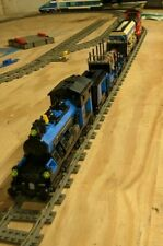 Lego My Own Train Locomotive w Tender kt203 Bundle with Extra Carriages/Wagons