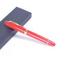 jinhao X450 fountain pen Bright red golden clip Medium nib new free shipping