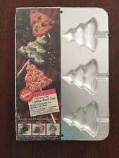 Wilton - CHRISTMAS TREE COOKIE TREAT PAN #2105-8101 NEW IN PACKAGE 6 Part Candy