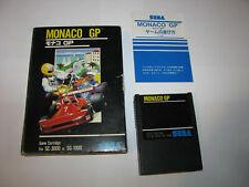Monaco GP Big Box Sega SG-1000 SC-3000 SMS Japan import Complete US Seller