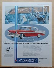 1956 magazine ad for Harrison Air Conditioning featuring Chevrolet Bel Air
