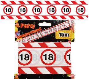 Absperrband zur Deko des 18. Geburtstag Dekorationsidee Feier Party Geschenk