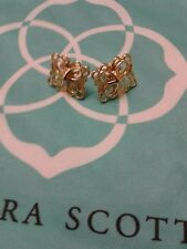 Kendra Scott Filigree Mystic B azaarStud Gold Earrings Rare HTF