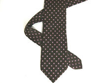 "Thomas Pink Mens Necktie Tie Brown Floral 62"" Long Silk"