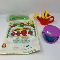 Vintage 1988 McDonalds Little Gardener Happy Meal 1 Bag and 3 Toys Fast Food