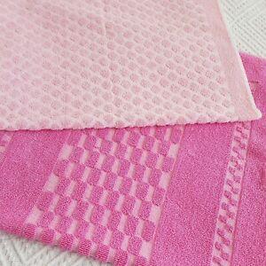 Vintage Retro 2 pink Hand Towel Towels set 60s 70s 80s vw camper
