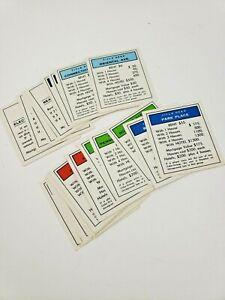 Monopoly Game Parts Property Deed Complete Set Replacement Cards