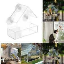 Clear House Window Bird Feeder Birdhouse With Suction Garden Outdoor New Fe V3U3