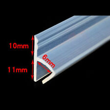 1M Rubber Bath Shower Screen Door Window Seal Strip Gap Curved Flat Clear 6mm
