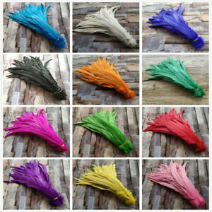 10-100pcs Beautiful 10-16inches/25-40cm Rooster Feather Clothing Hat Accessories