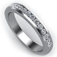 .60 CARAT ROUND CUT DIAMOND WEDDING BAND DIAMOND RING CHANNEL SET 14K WHITE GOLD