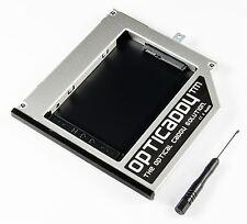 Opticaddy 2. SATA-3 HDD/SSD Caddy+frontalino Dell Latitude E4300
