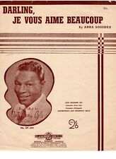 Darling, Je Vous Aime Beaucoup vintage Australian sheet music by NAT KING COLE
