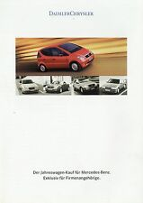 Prospekt Mercedes Benz Jahreswagen 90er Jahre brochure Auto PKWs Deutschland