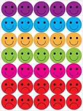 Happy and Sad face stickers reward kids teachers A4 sheet