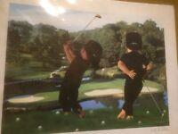 Large T. Richard 'Golf Buddies' Print