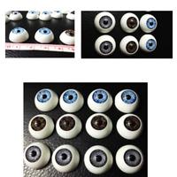 12pcs(6pairs) 16mm Doll Eyeballs Half Round Acrylic Eyes for DIY Doll Bear Parts