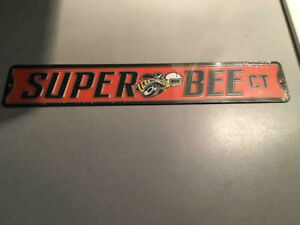APP 3X20 INCH ALL MEDAL ORANGE/BLUE SUPER BEE  SIGN IN PERFECT CONDITION