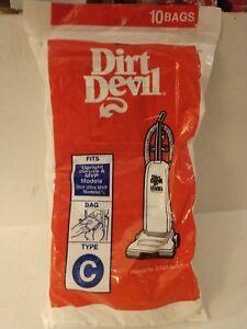 Dirt Devil Factory Vacuum Cleaner Bags Package of 10 type C