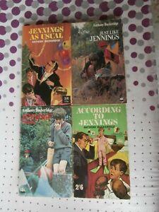 Anthony Buckeridge - Jennings - bundle 4 paperbacks Little Hut, According To etc