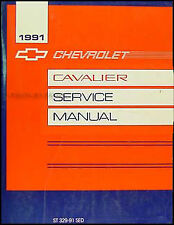 1991 Chevy Cavalier Repair Shop Manual 91 Original Chevrolet Service RS VL Z24
