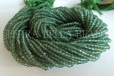 "13"" strand green APATITE faceted rondelle gem stone beads 3mm"