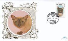 (01734) Guyana Benham FDC Cats 29 July 1997