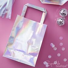 IRIDESCENT PARTY BAGS -Shiny Pink- Perfect for UNICORN PARTY!-FULL RANGE IN SHOP