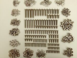 500pc Stainless UNF Hex Bolts, Nuts & Washer Jaguar E Type Pack