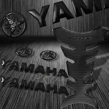 "ProGrip Perforated Black Fuel Tank Pad+5.75""3D Yamaha Logo+Letter Emblem Sticker"