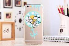 Ultra Thin Cartoon Soft TPU Crystal Clear Case Cover for iPhone Samsung Galaxy