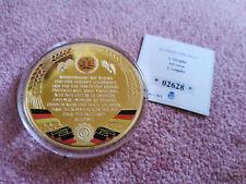 Medaille 1. Stophe DDR 70 mm 2017 Münze Kupfer Vergoldet
