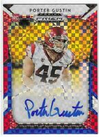 "2019 PRIZM DRAFT PICKS PORTER GUSTIN ""RED WHITE BLUE"" AUTO RC #188 USC 23/99"