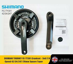 SHIMANO TOURNEY FC-TY301 Crankset - 3x6/7/8-Speed 42/34/24T 170mm Square Taper